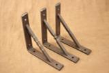 Wrought iron square bar gusset shelf bracket