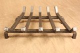 Wrought iron standard fireplace grate - 5 Bar