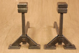 Large Cube Top Andirons