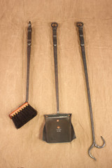 wrought iron lodge fireplace tools