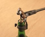 Lever action wine bottle opener - detail
