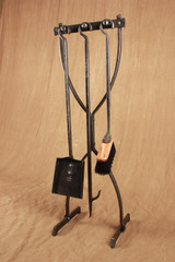 Hourglass Fire Tool Stand