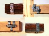 Custom hand forged mantel straps
