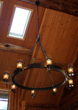 hand forged chandelier