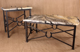 wrought iron horseshoe tables