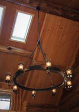 Installed cabin chandelier