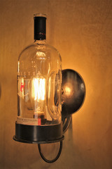 Vintage Wall Light-Whiskey Bottle