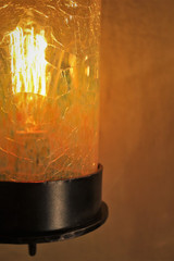 Vintage Wall Light-Crackle Glass