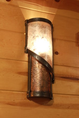 Spiral Copper & Mica Wall Sconce