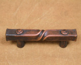 Half twist cabinet pull with Bronze patina-2