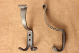 Wrought iron double coat & hat hooks