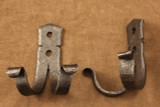 Wrought iron double coat hook