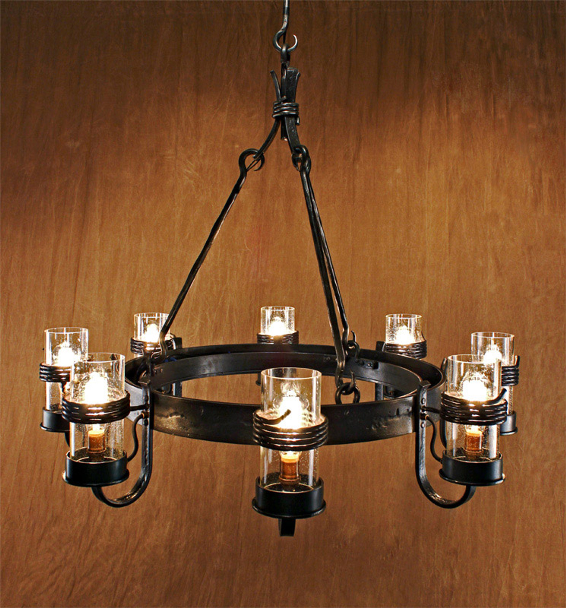 Cabin Chandelier Wrought Iron Lighting Ponderosa Forge