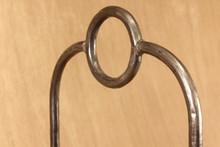 wrought iron round bar log rack - detail
