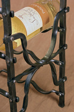 Hand forged wine rack detail