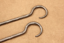 wrought iron extension links - hook details