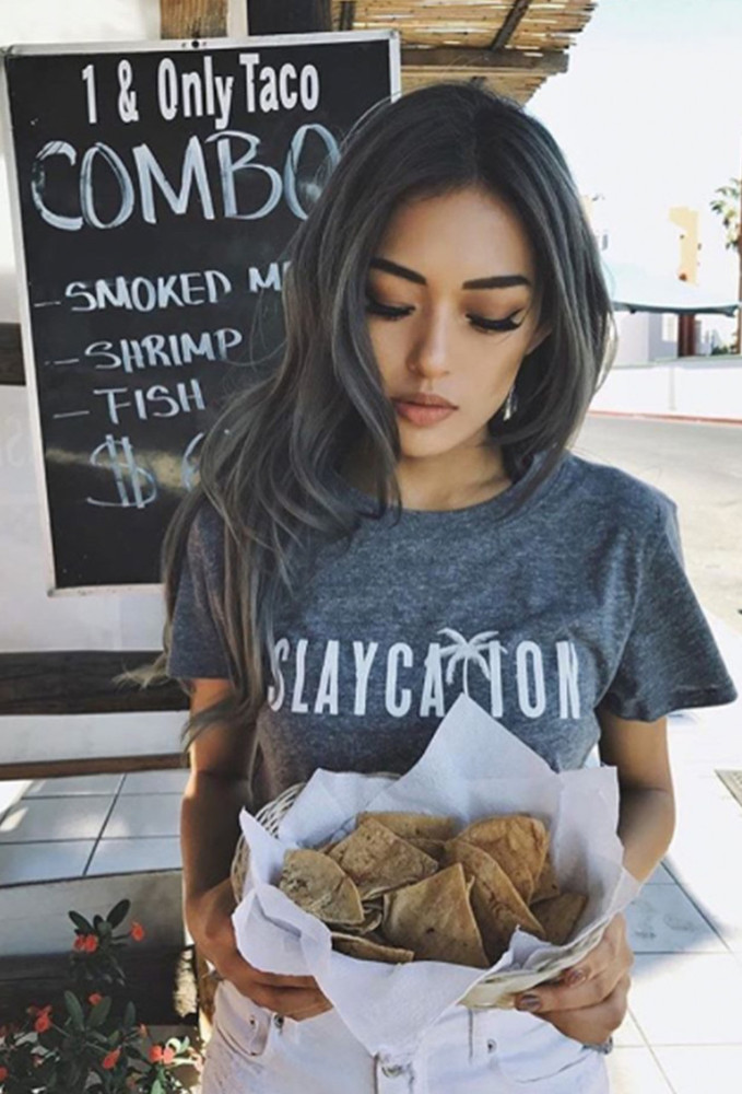 Suburban Riot Slaycation Loose Tee as seen on @itssangtime