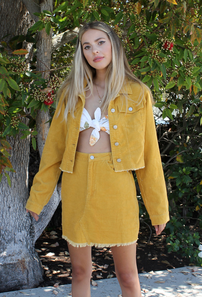CALIstyle Dreaming of Autumn Corduroy Crop Jacket