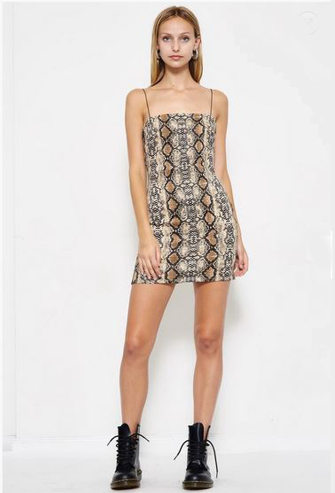CALIstyle Snake Bite Mini Dress