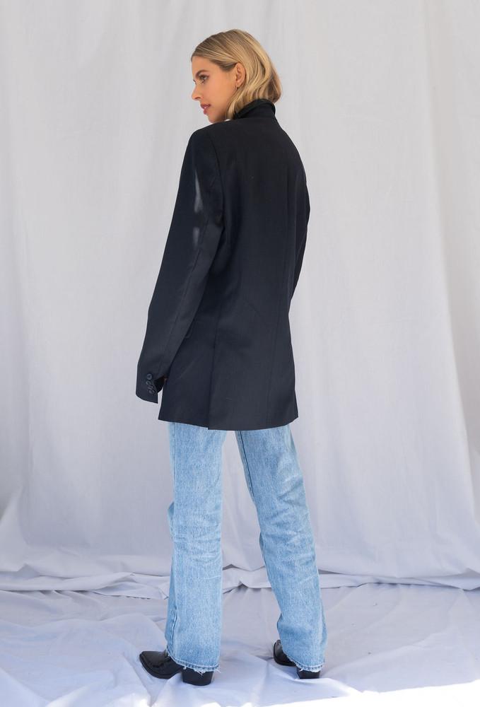 Vintage x Resurrection Menswear Oversized Blazer In Navy