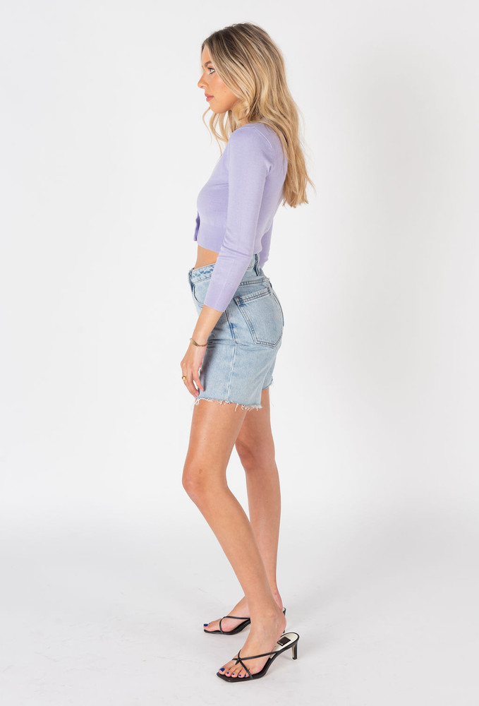 CALIstyle Sunset Sky Cardigan In Lavender
