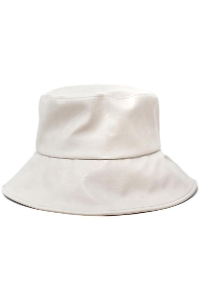 CALIstyle Jaydon Leather Bucket Hat In Putty