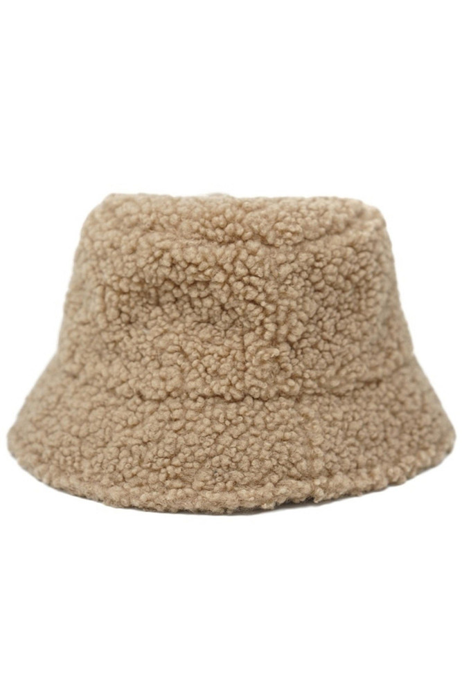CALIstyle Teddy Bucket Hat In Beige
