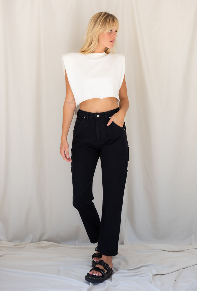 CALIstyle Throwing It Back Carpenter Jean In Black