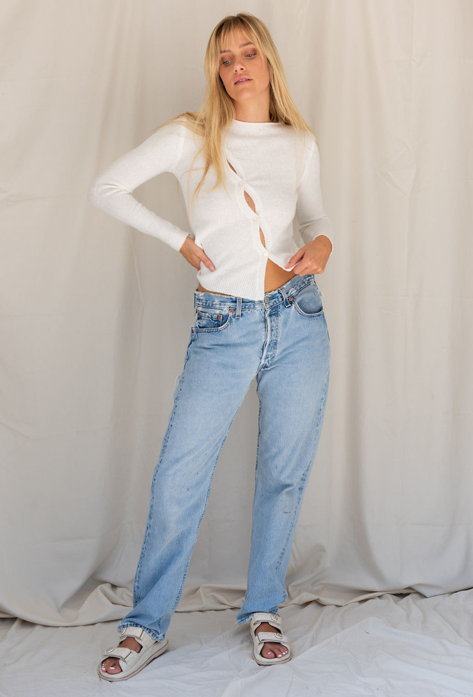 CALIstyle Nights Winter Knit Top In White - RESTOCK