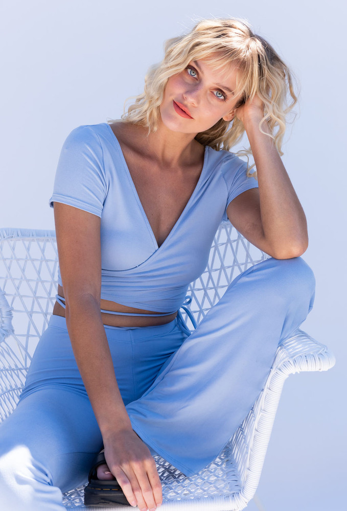 CALIstyle All Play Top & Pant Set in Powder Blue