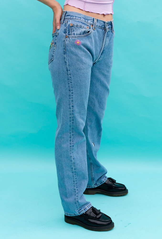 Vintage x Resurrection One Of A Kind 501 Levi's Hand Embroidered Jeans - RESTOCK