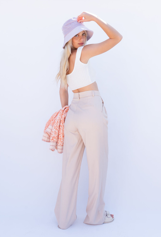 CALIstyle Giselle Trouser/Pant  In Tan - Restock