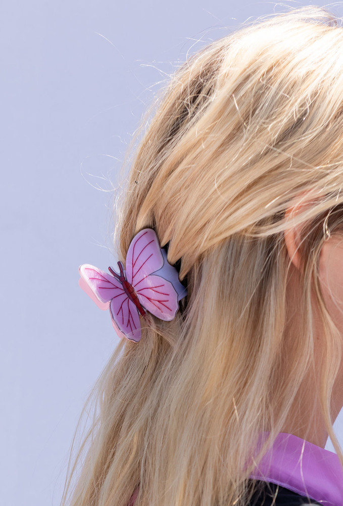 CALIstyle Monarch Butterfly Hair Clip/Claw In Lavender