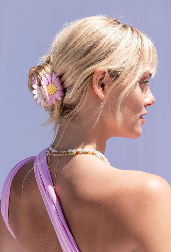 CALIstyle Where The Flowers Are Claw Clip In Pink