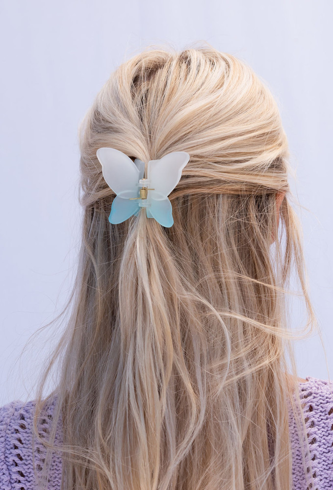 CALIstyle Flutter Butterfly Hair Clip In Blue Ombre