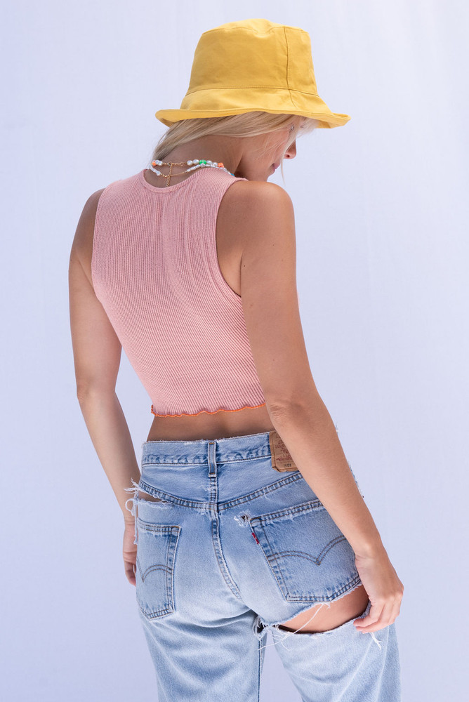 CALIstyle Coming Up Daisies Bucket Hat In Marigold