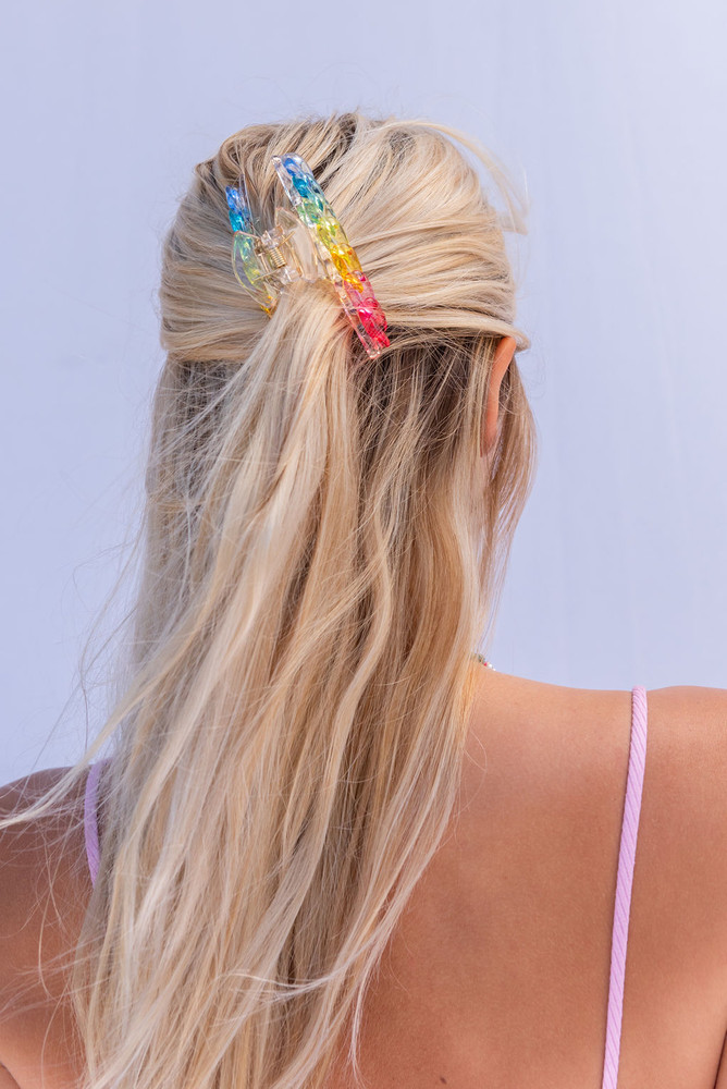 CALIstyle Summer Sun Hair Clip/Claw In Rainbow