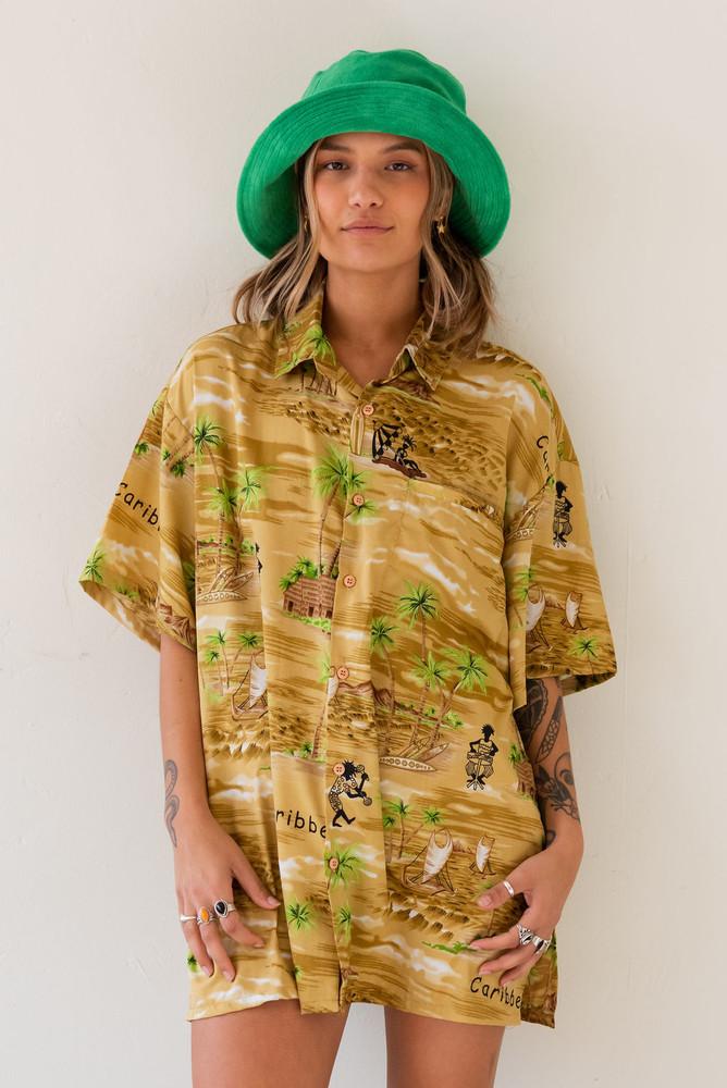 Vintage x Resurrection Hawaiian Silk Oversized Shirt
