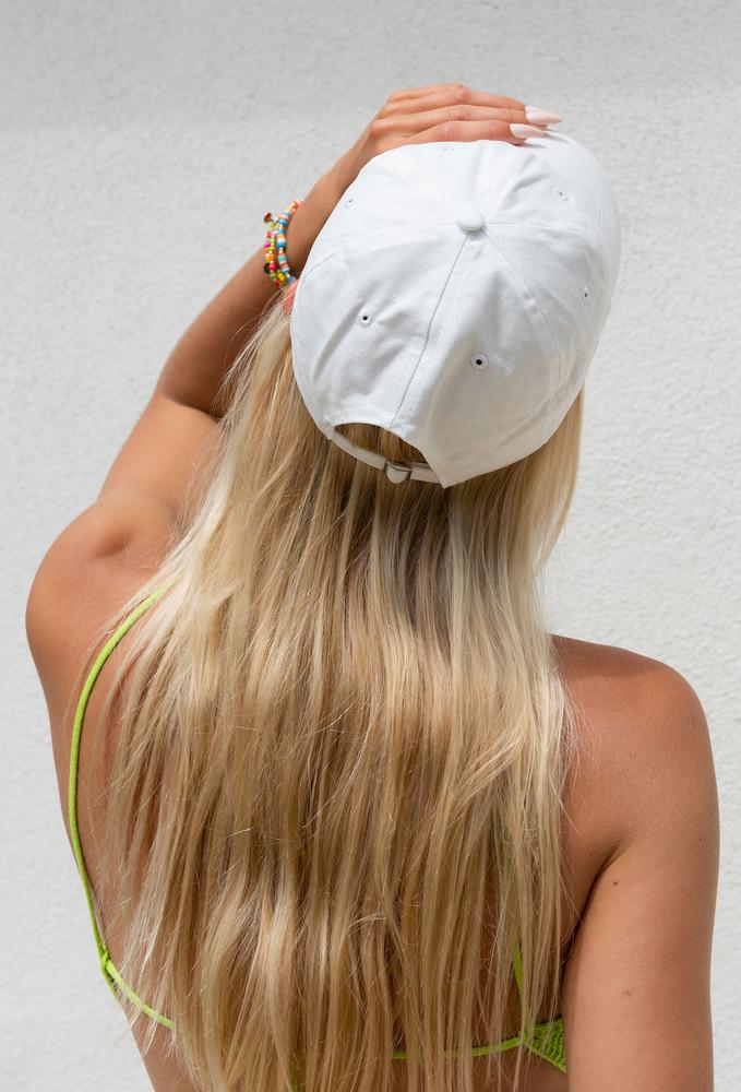 CALIstyle West Coast Girl Baseball Cap In White
