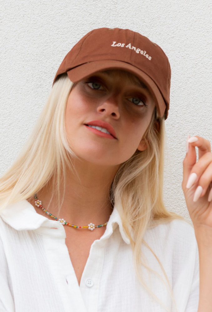 CALIstyle West Coast Girl Baseball Cap In Brown