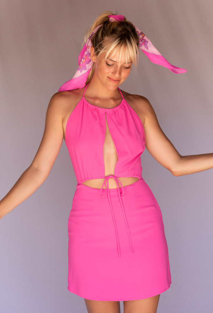 CALIstyle Coming In Hot Dress In Pink