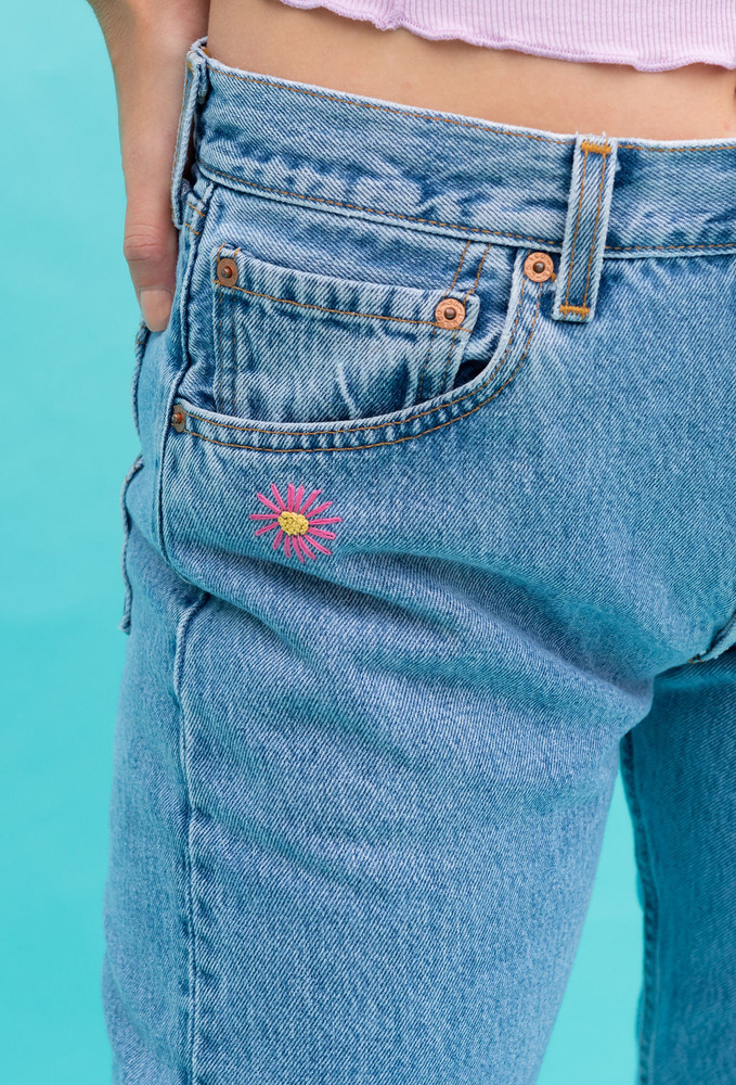 Vintage x Resurrection One Of A Kind 501 Hand Embroidered Levi Jeans  - RESTOCK