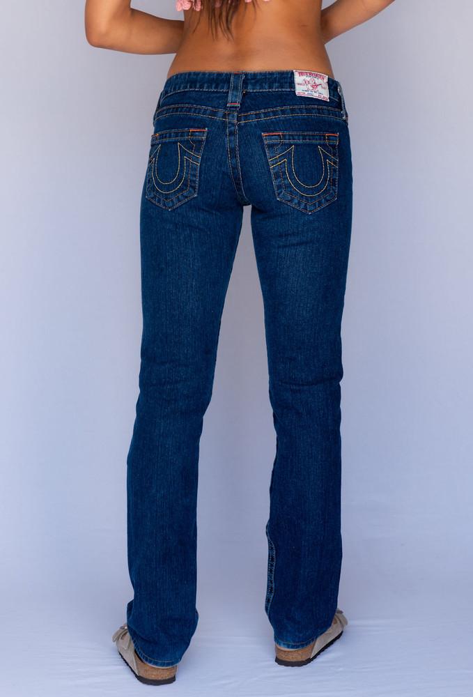 Vintage x Resurrection True Religion Low Rise Jean In Dark Wash