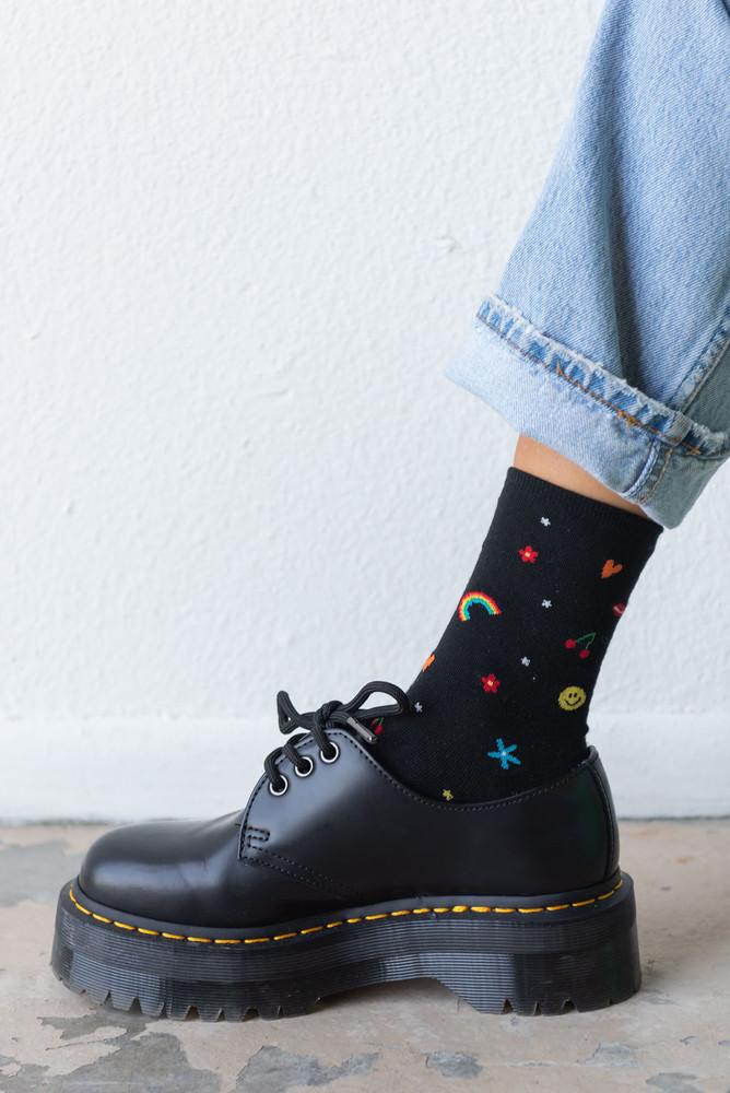 CALIstyle All The Feels Emoji Socks In Black