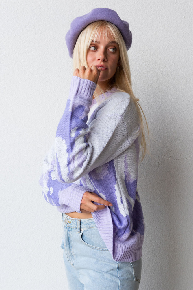 CALIstyle Heat Wave Sweater In Lavender