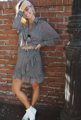 CALIstyle La Maison Plaid Skirt