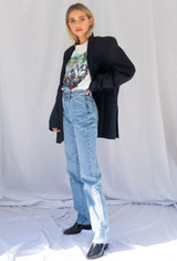 Vintage x Resurrection Oversized Menswear Blazer In Navy