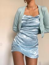 CALIstyle Sunset Sky Cardigan In Mint/Blue