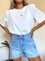 CALIstyle Modern Love Oversized Tee In White