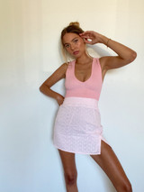 CALIstyle French Girl Mini In Pink Eyelet